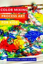 Color Mixing Process Art Activity for Kids