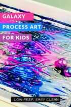 Low-Prep Galaxy Process Art for Kids