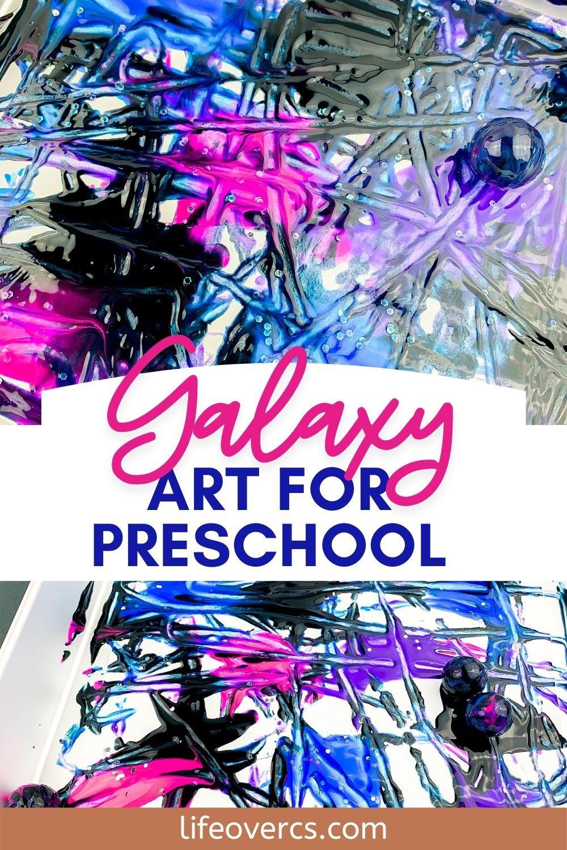 Galaxy Process Art for Preschool