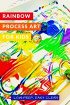 Low-Prep Rainbow Process Art for Kids