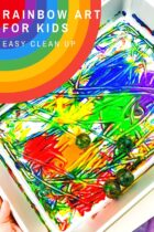 Easy Clean Up Rainbow Art for Kids