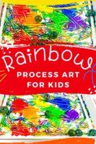 Easy Rainbow Process Art Activity for Kids