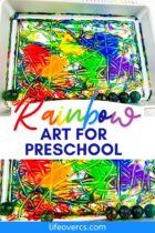 Rainbow Bouncy Ball Art for Preschool
