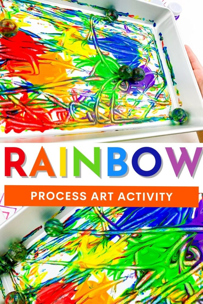 Rainbow Process Art Activity