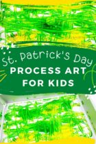 Bouncy ball painting st. Patrick's pin1
