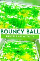 Bouncy ball painting st. Patrick's pin6