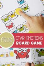 Crab Emotions Preschool Board Game