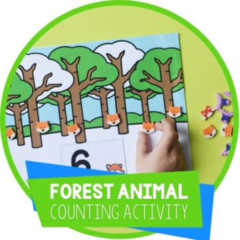Forest Animal Mini Eraser Counting Activities Featured Square Image