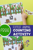 Free Forest Animal Counting Activity