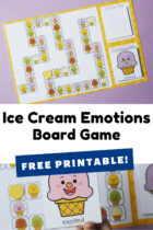 Free Printable Ice Cream Emotions Board Game