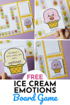 Free Ice Cream Emotions Board Game for Kids