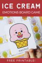 Free Ice Cream Emotions Board Game Printable