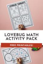 Lovebug Math Activity Pack Free Printables
