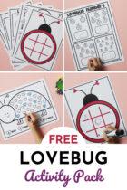 Free Lovebug Activity Pack for Preschoolers