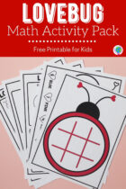 Free Printable Lovebug Math Activity Pack for Kids