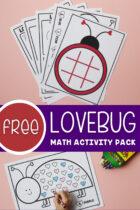 Free Lovebug Math Activity Pack