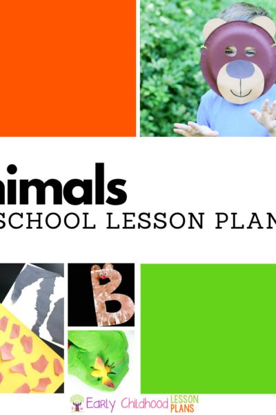 Animal Theme Preschool Lesson Plan square image