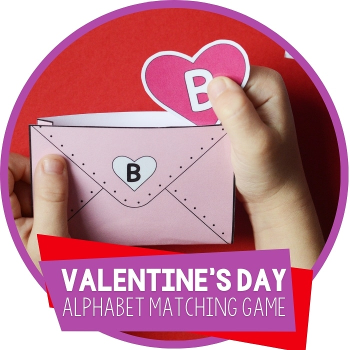Valentines Alphabet Matching Games for Preschoolers