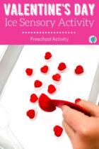 Easy Valentine's Day Ice Sensory Activity