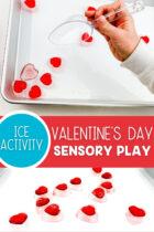 Valentine's Day Sensory Play Ice Activity
