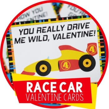 Race Car Valentine's Day Cards Featured Image