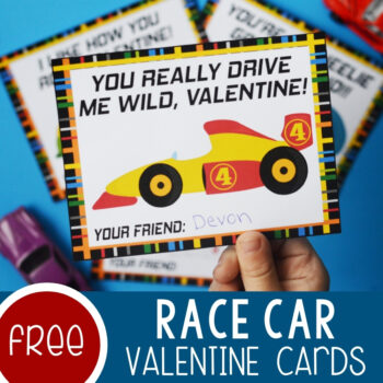 Race Car Valentine's Day Cards Featured Square Image