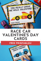 Free Race Car Valentine's Day Cards for Kids