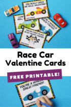 Free Printable Race Car Valentine Cards