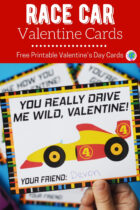 Free Printable Race Car Valentine's Day Cards