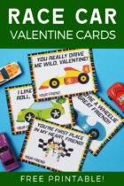 Race Car Valentine Cards Free Printable