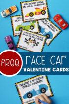 Free Race Car Valentine Cards