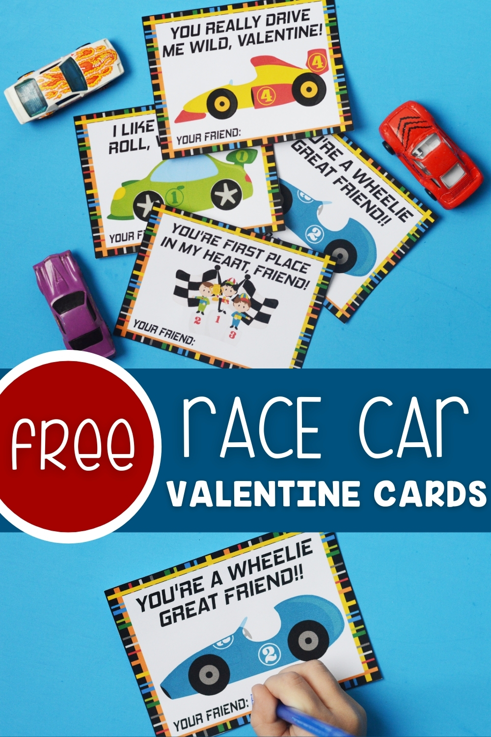Free Race Car Valentine Cards