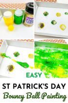 St. Patrick's Day Bouncy Ball Painting