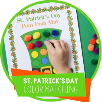 St. Patrick's Day Fine Motor Color Matching Featured Square Image