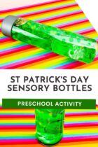 St. Patricks' Day Sensory Bottles Preschool Activity
