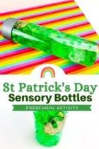 DIY St. Patrick's Day Sensory Bottles