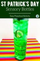 Easy St. Patrick's Day Sensory Bottles Activity