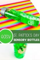Easy St. Patrick's Day Sensory Bottles