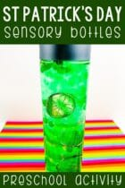 Homemade St. Patrick's Day Sensory Bottles