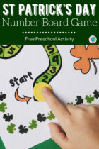 Free St Patrick's Day Number Board Game For Preschoolers