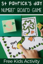 Free Kids St Patrick's Day Number Board Game Activity