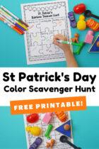 Free Printable St Patrick's Day Color Scavenger Hunt