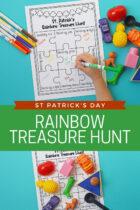 St Patrick's Day Rainbow Treasure Hunt