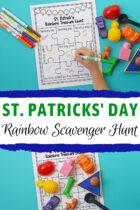St Patrick's Day Rainbow Scavenger Hunt