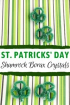 St. Patrick's Day Shamrock Borax Crystals