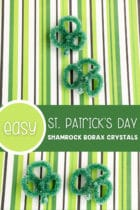 Easy St. Patrick's Day Shamrock Borax Crystals