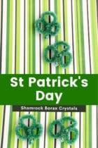 St. Patrick's Day Shamrock Borax Crystals for Preschoolers