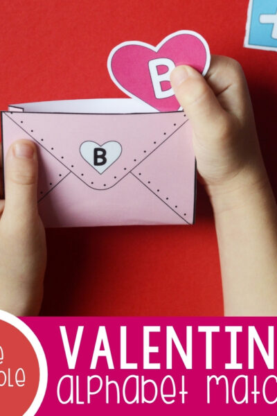 Valentines Alphabet Matching Envelopes Featured Square Image