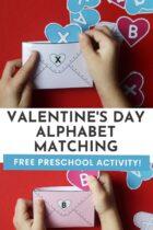 Free Preschool Valentine's Day Alphabet Matching Activity