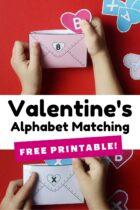 Free Printable Valentine's Alphabet Matching